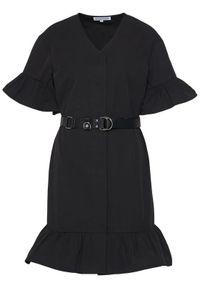 Czarna sukienka koszulowa Silvian Heach