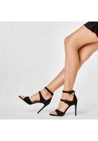 Czarne sandały Eva Minge wizytowe