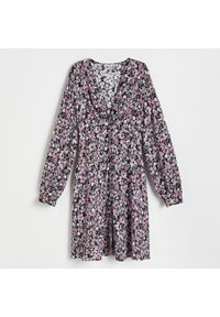 Reserved - Sukienka z EcoVero™ - Różowy. Kolor: różowy