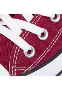Czerwone trampki Converse z paskami