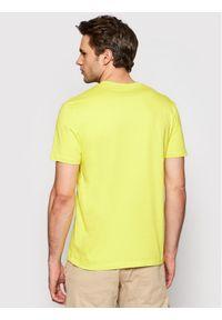 Blauer T-Shirt NYPD 21SBLUH02130 004547 Żółty Regular Fit. Kolor: żółty