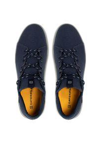 CATerpillar - Sneakersy CATERPILLAR - Hex X-Lace Canvas P724569 Dark Blue/Grey. Okazja: na co dzień. Kolor: niebieski. Materiał: materiał. Szerokość cholewki: normalna. Styl: klasyczny, sportowy, elegancki, casual #7