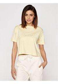 Sprandi T-Shirt SS21-TSD005 Żółty Cropp Fit. Kolor: żółty