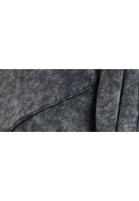 TOP SECRET - Bluza z opranej dzianiny, z bufiastymi rękawami. Okazja: na co dzień. Kolor: szary. Materiał: dzianina. Sezon: jesień. Styl: sportowy, casual