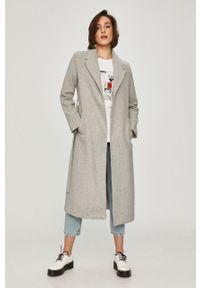 Szary płaszcz Answear Lab wakacyjny, gładki, na co dzień #7