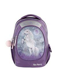 Fioletowy plecak Miss Melody w kolorowe wzory