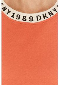 DKNY - Dkny - Koszula nocna. Kolor: pomarańczowy. Materiał: dzianina. Długość: krótkie