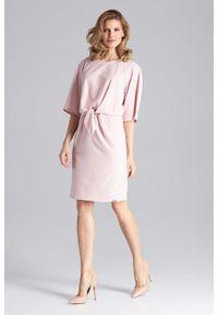 Różowa sukienka wizytowa Figl