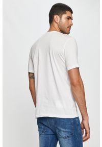 Hugo - T-shirt. Okazja: na co dzień. Kolor: biały. Wzór: nadruk. Styl: casual