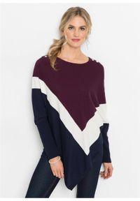 Fioletowy sweter bonprix w paski