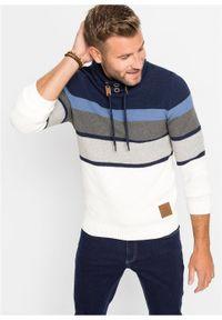Niebieski sweter bonprix w paski