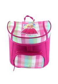 Princess Mimi Mini plecak , Różowe, pastelowe kostki, księżniczka Mimi i Lou. Kolor: różowy