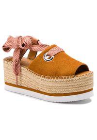 Brązowe sandały See By Chloé na co dzień, casualowe