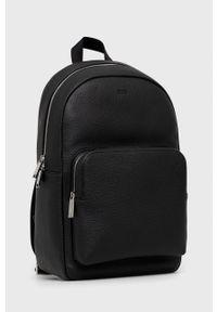 BOSS - Boss - Plecak skórzany. Kolor: czarny. Materiał: skóra
