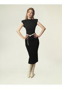 Madnezz - Sukienka Jagg - czerń. Okazja: na imprezę. Materiał: wiskoza, elastan
