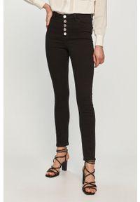 Czarne jeansy Morgan z podwyższonym stanem