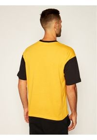 Champion T-Shirt Manica Logo 214285 Żółty Regular Fit. Kolor: żółty #5