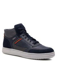 Geox - Sneakersy GEOX - U Levico B Abx C U04AHC 04622 C4002 Navy. Okazja: na co dzień. Kolor: niebieski. Materiał: zamsz, materiał, skóra ekologiczna. Szerokość cholewki: normalna. Styl: casual