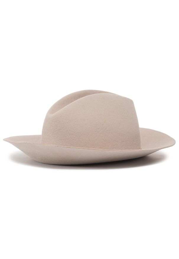 Beżowy kapelusz Patrizia Pepe
