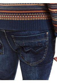 Niebieskie spodnie TOP SECRET długie #7