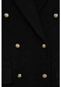 Czarny płaszcz mango klasyczny, na co dzień, bez kaptura
