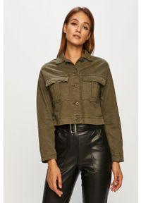 Dr. Denim - Kurtka jeansowa. Okazja: na co dzień. Kolor: zielony. Materiał: jeans, denim. Styl: casual