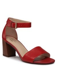 Czerwone sandały Clarks