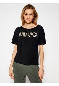 Liu Jo Sport T-Shirt TA1012 J7905 Czarny Regular Fit. Kolor: czarny. Styl: sportowy