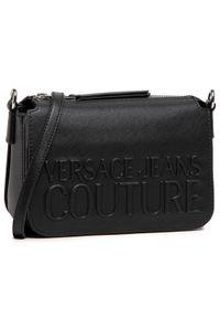 Versace Jeans Couture - Torebka VERSACE JEANS COUTURE - E1VWABR1 71882 899. Kolor: czarny. Materiał: skórzane. Styl: klasyczny