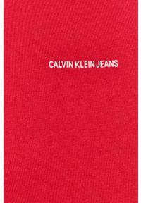 Calvin Klein Jeans - T-shirt. Okazja: na co dzień. Kolor: fioletowy. Materiał: dzianina. Wzór: gładki. Styl: casual