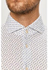 Baldessarini - Koszula bawełniana. Typ kołnierza: kołnierzyk włoski. Kolor: niebieski. Materiał: bawełna #4