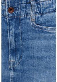 Pepe Jeans - Spódnica Maisie. Okazja: na co dzień. Stan: podwyższony. Kolor: niebieski. Materiał: denim. Styl: casual