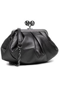 Czarna torebka Max Mara skórzana, wizytowa
