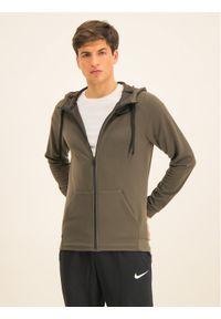 Nike Bluza Dry Hoodie Fz Fleece 860465 Zielony Standard Fit. Kolor: zielony