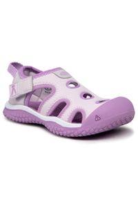 keen - Sandały KEEN - Stingray 1024730 Lavender Fog/African Violet. Kolor: różowy. Materiał: skóra. Sezon: lato