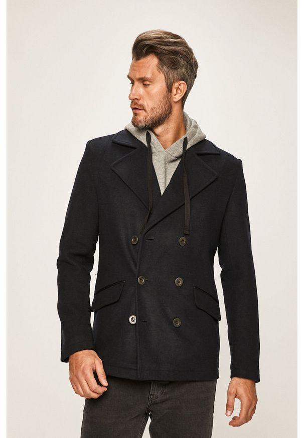 Niebieski płaszcz Only & Sons bez kaptura, casualowy, na co dzień
