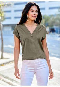 Zielona bluzka bonprix elegancka