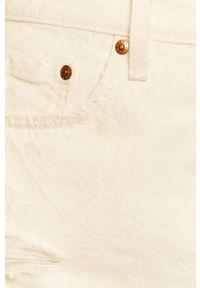 Levi's® - Levi's - Spódnica jeansowa. Okazja: na spotkanie biznesowe, na co dzień. Kolor: biały. Materiał: jeans. Styl: biznesowy, casual