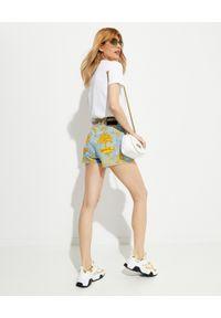 Versace Jeans Couture - VERSACE JEANS COUTURE - Szorty z nadrukiem. Kolor: niebieski. Materiał: tkanina. Wzór: nadruk