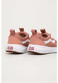 Różowe buty sportowe Vans z cholewką, na sznurówki