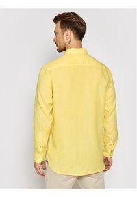 TOMMY HILFIGER - Tommy Hilfiger Koszula Pigment Dyed MW0MW17646 Żółty Regular Fit. Kolor: żółty