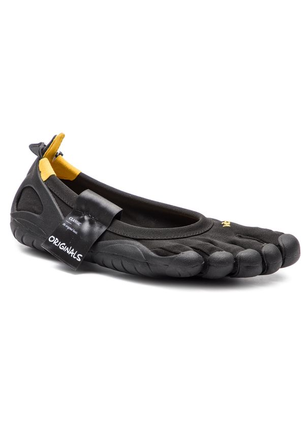 Czarne buty do biegania Vibram Fivefingers na płaskiej podeszwie, z cholewką, Vibram FiveFingers