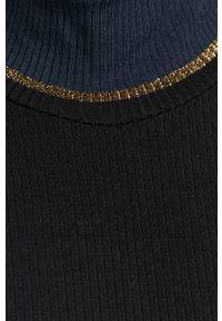 Niebieski sweter TOMMY HILFIGER z długim rękawem, długi