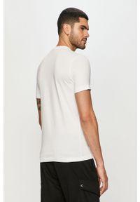 Biały t-shirt Diesel na co dzień, casualowy