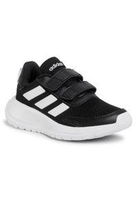 Czarne półbuty Adidas na spacer, na rzepy