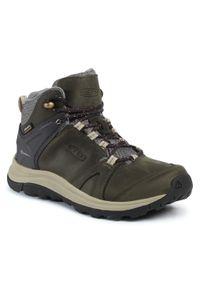 Zielone buty trekkingowe keen trekkingowe, z cholewką