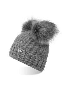 Szara czapka BRODRENE elegancka, na zimę