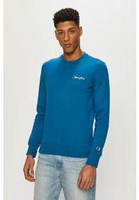 Niebieska bluza nierozpinana Champion bez kaptura, na co dzień, casualowa