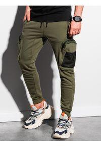 Brązowe spodnie Ombre Clothing