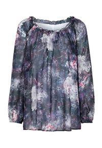 Cellbes Przejrzysta, wzorzysta bluzka we wzory female ze wzorem 38/40. Materiał: tkanina. Długość rękawa: długi rękaw. Długość: długie